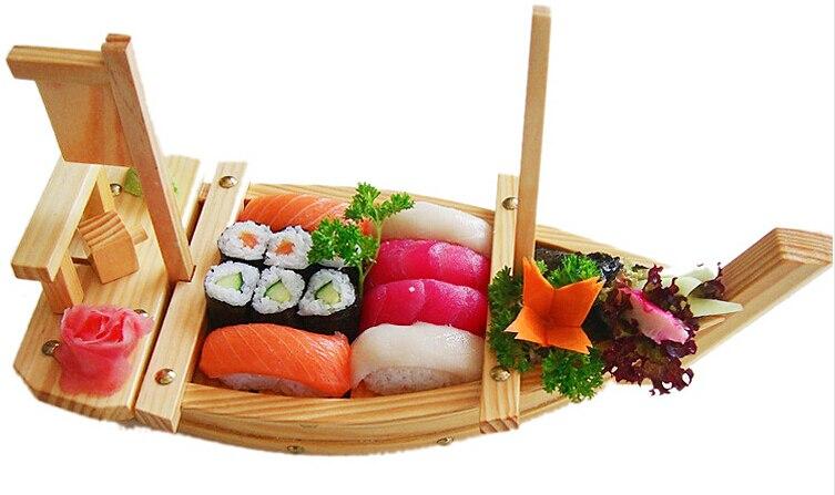 Us 760 60708090100 Drewniane Sashimi łodzi Taca Do Serwowania Japońska żywność Owoce Morza Płyta Restauracja Sushi łódź W Naczynia I Talerze Od