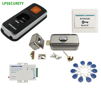 Standalone Fingerprint RFID Access Control Reader Electric Wooden Steel Gate Door Lock Kit With 10 Tags