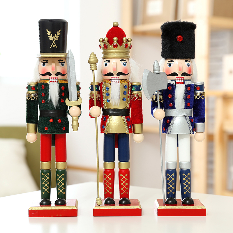 Nutcracker Puppet Flannelette Soldiers Vintage Home Decor