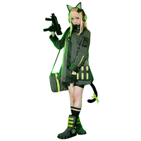 Game Girls Frontline TMP Battle Uniforms Cosplay Costume/Backpack/Headset For Women Halloween Carnival Free Shipping