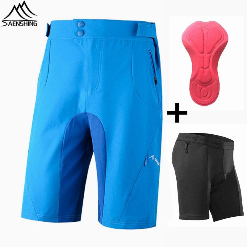 SAENSHING горных MTB шорты велосипедные шорты+куб велосипед нижнее белье гель площадку горный велосипед шорты Джерси короткий Втт