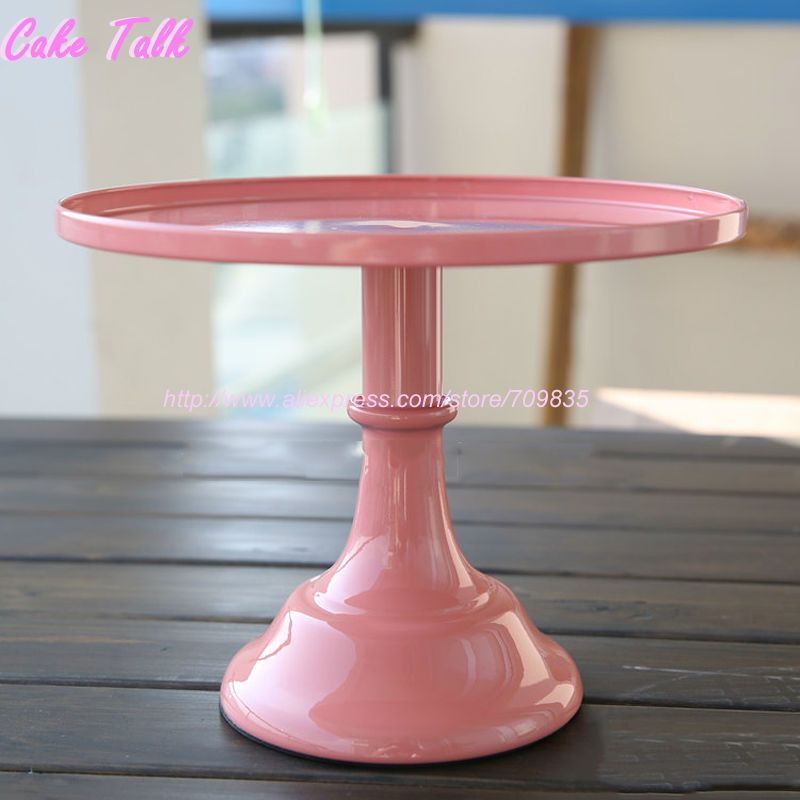 Grand Bakers 10 Inch Cake Stand Pink White Black Fondant