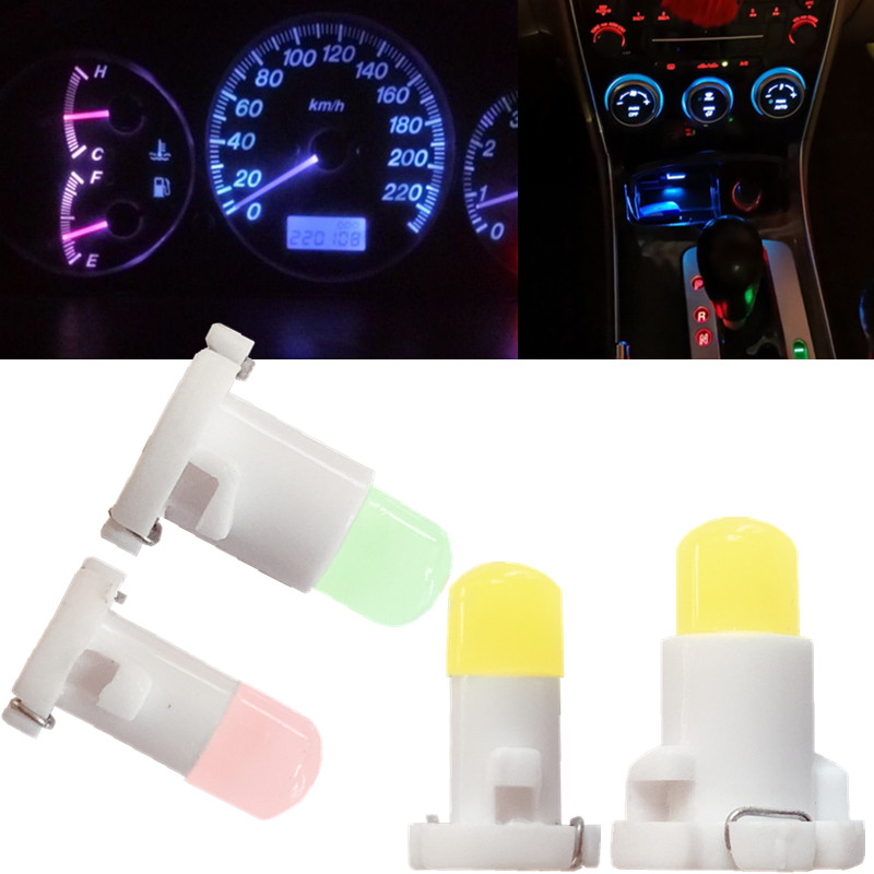 10pcs T3 T4.2 T4.7 Car LED Neo Wedge Switch Radio Climate Control Bulb Instrument Dashboard Dash Indicator Ac Panel Lights