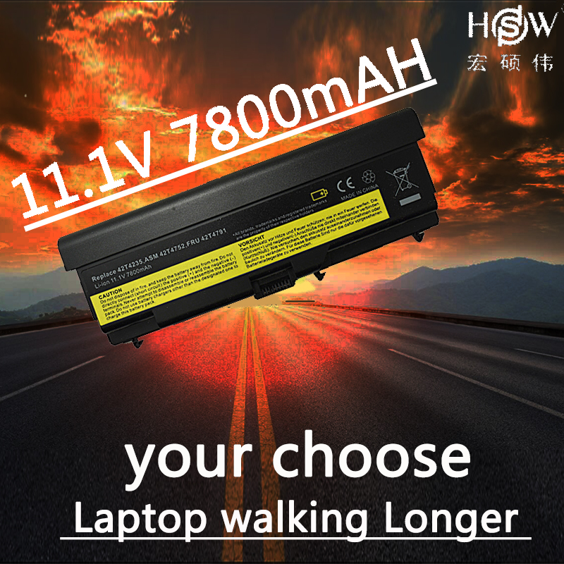 HSW laptop Battery For Lenovo w510 t510 t410 battery t420 E40 E50 L410 L420 L421 L510 L512 L520 battery SL410 SL510 T520 W520