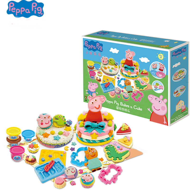 Original Peppa Pig Deluxe Modeling Clay Set 2019 Hot Peppa Pig's Picnic/ bakes a cake/ picnic original box children Birthday toy