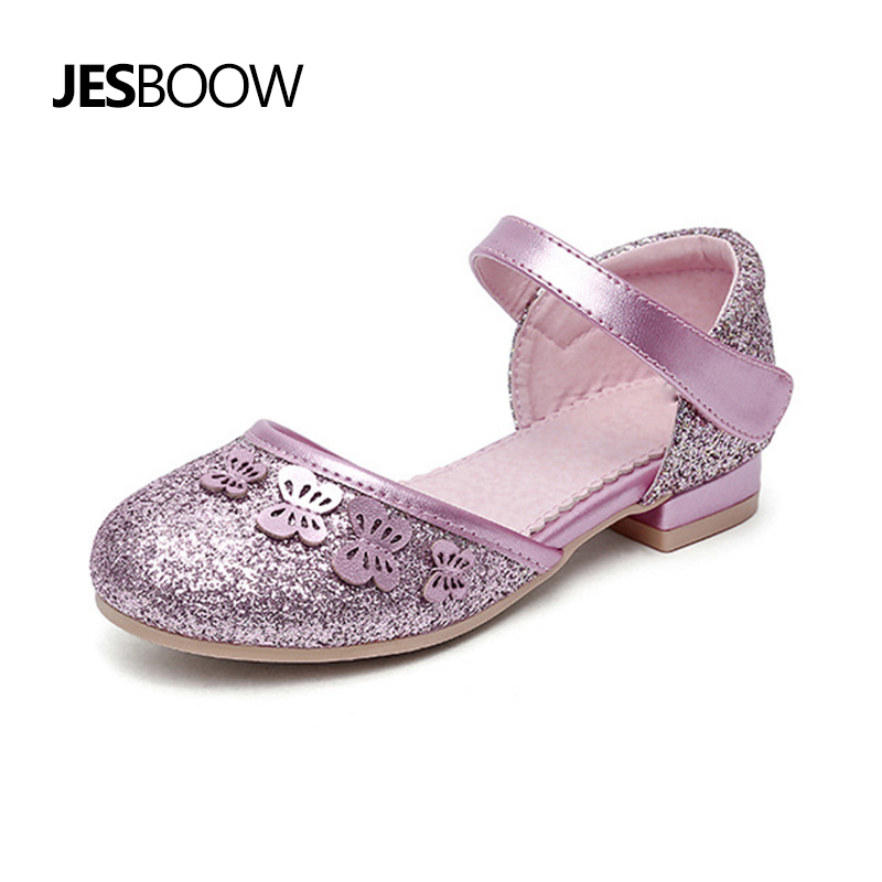 Child girl glitter shoes children Princess sandals butterfly baby girl shoes party Wedding shoes цена 2017