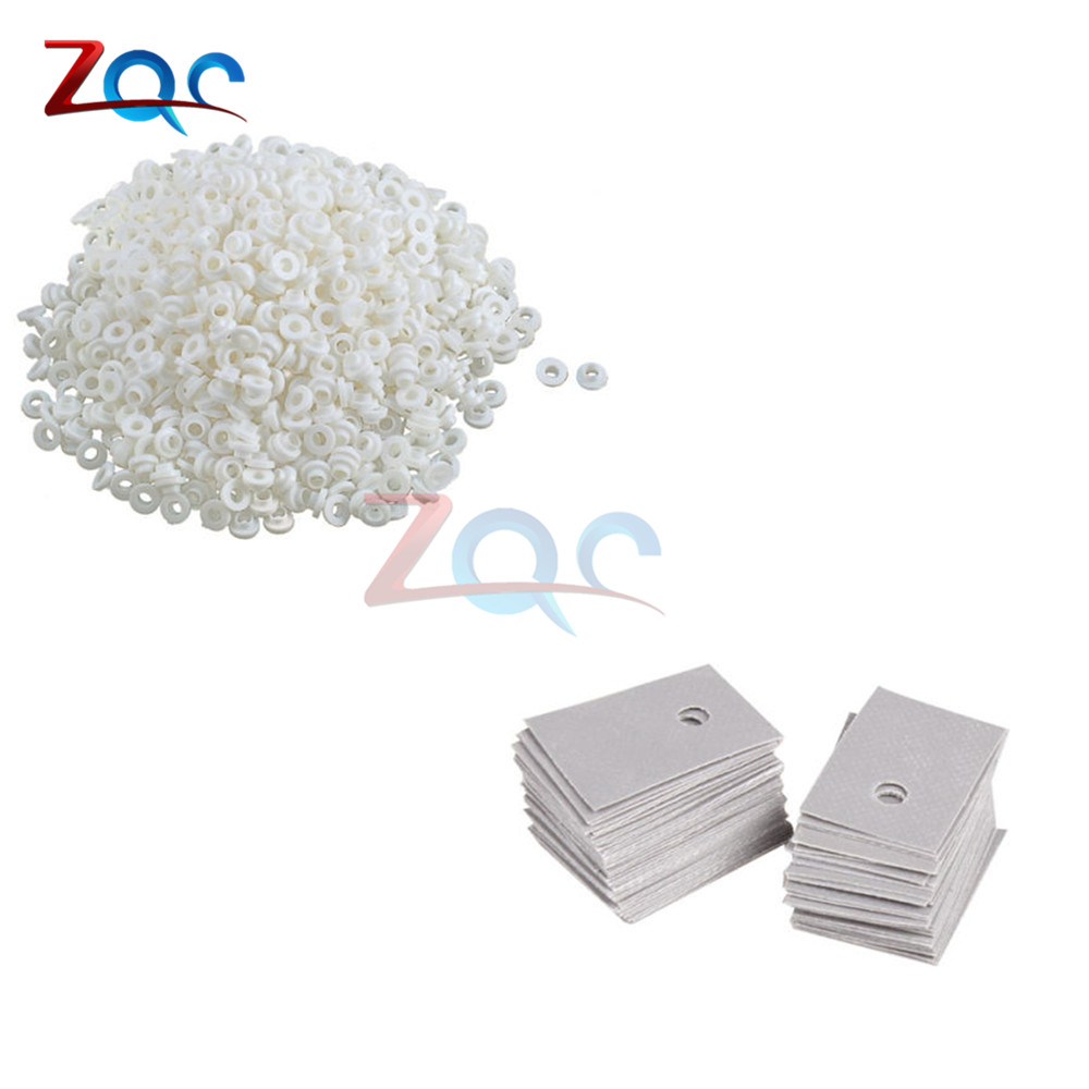 100set TO-220 Transistor Plastic Washer Insulation Washer + TO-220 Insulation Eco friendly Insulating Particles Bushing Transist irl520a to 220