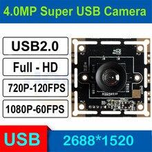 HQCAM 3.0 megapiksel 1/3 inç OV4689 yüksek Linux USB kamera modülü Android Linux Windows Mac için, 120fps 720P, 60fps 1080P