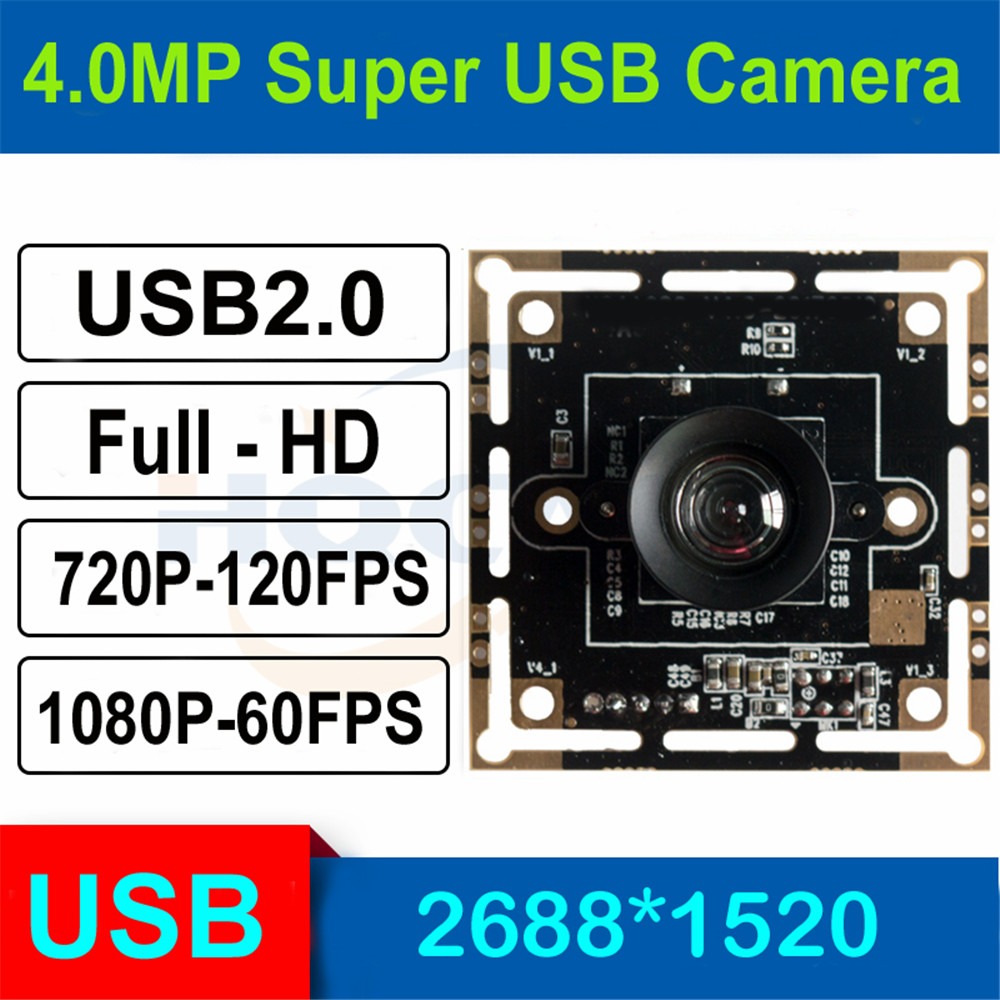 HQCAM 3.0megapixel 1/3 inch OV4689 High Fram Rate USB Camera Module for Android Linux Windows Mac,120fps 720P, 60fps 1080P-in Surveillance Cameras from Security & Protection