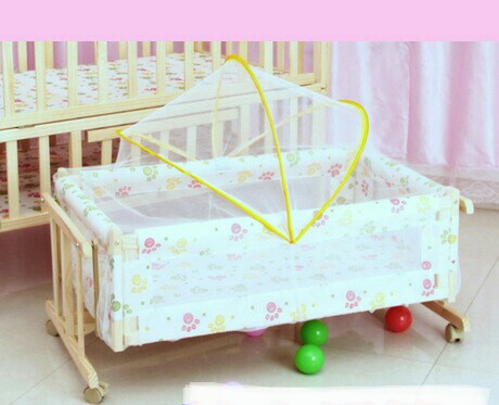 trolley solid wood baby cribs baby bedding mother u0026 kids baby cradle with netting cm hot whole sale good price