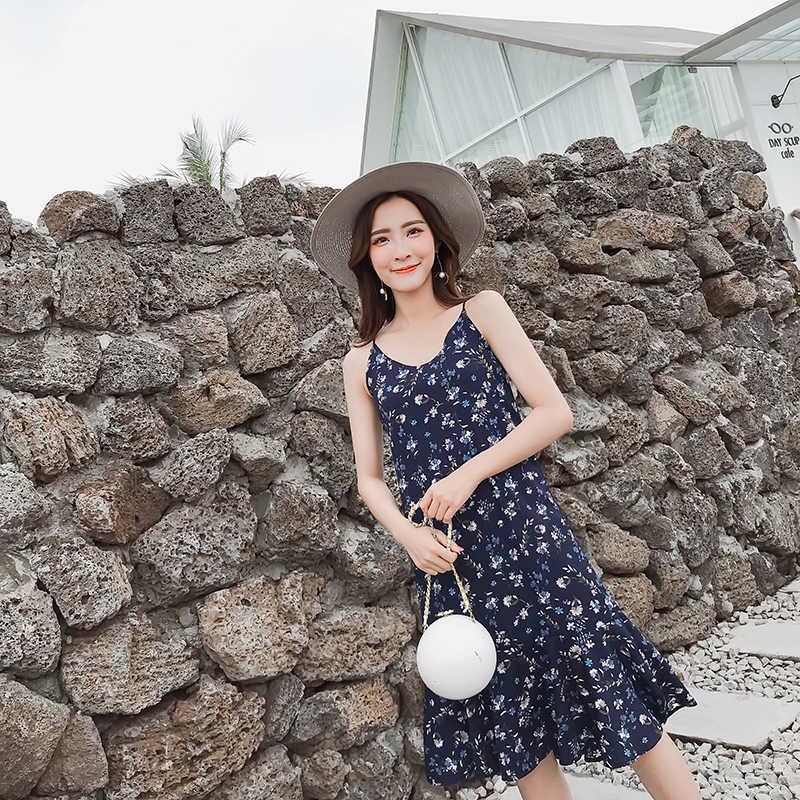 """2019 на пляж туризма фрагментированный цветок подвеска платье шифон платье """"рыбий хвост"""" для обувь девочек с подкладкой не легко ходить awa"""