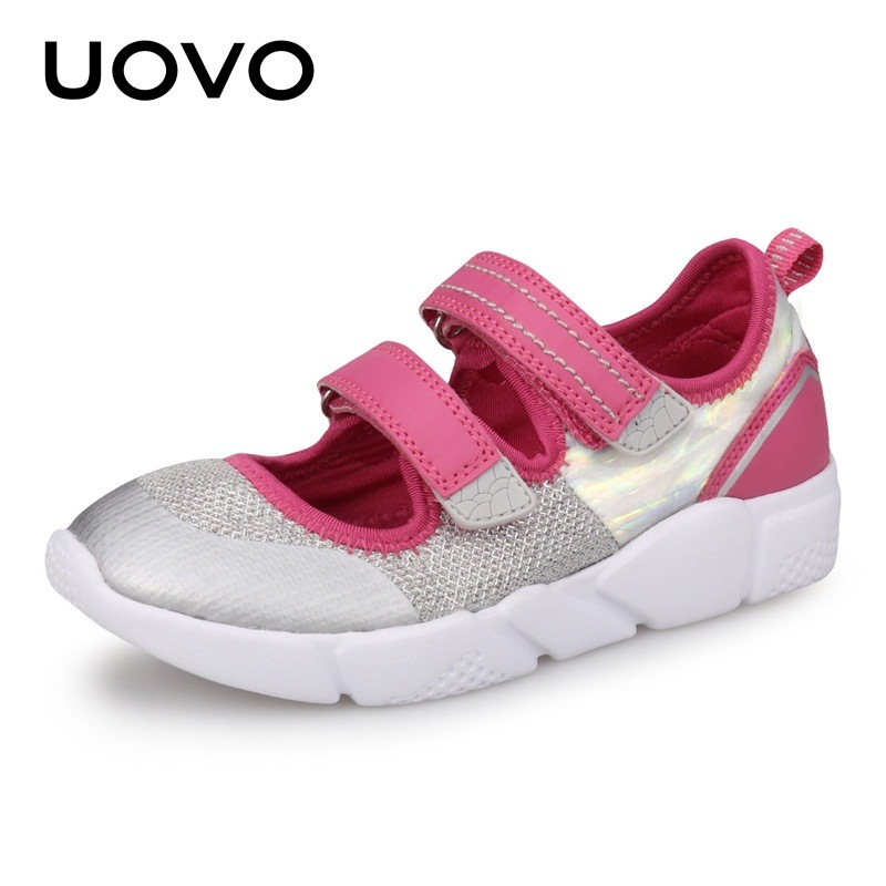 UOVO Kids Shoes Girls Light Weight Spring And Summer Soft Sport Sole School ballerina Dress Shoes For Little Kids Eur# 25-37