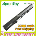 Apexway 14.4V 2200mAh laptop battery PA5184U-1BRS PA5185U-1BRS  for Toshiba Satellite C55 C55D C55T L55 L55D L55T Series