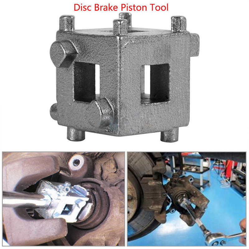 Rear Disc Brake Caliper Piston Rewind/Wind Back Cube Tool 3/8