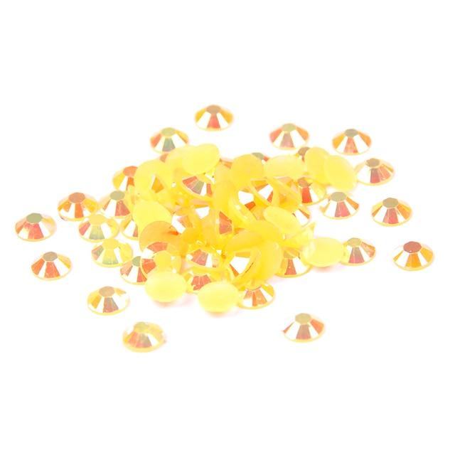 Cristal Glitter Laranja AB Cor de Resina Strass 2-6mm 14 Facetas Nail Art DIY Sacos de Vestidos de Roupas Rodada Flatback Não Hotfix