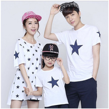 Mom Son Outfits Family Clothing Dad Mom and Daughter Matching Clothes Like Father and Like Son Clothes Shirt Super Star Printed
