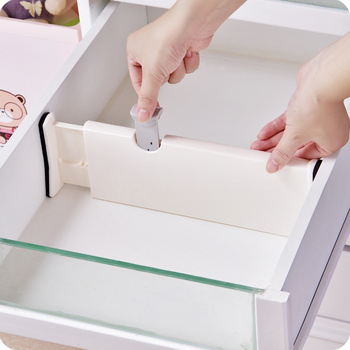 Adjustable Kitchen Drawer Organizer and expandable Drawer Separator Grid to Divide the Drawer