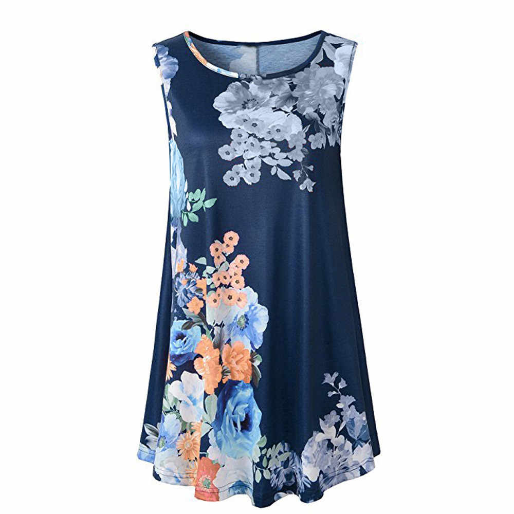 Hot Fashion Summer Tank Tops Women's Vintage Floral Printed Shirt Girls Lady Sexy Sleeveless Casual Loose T-Shirt Cropped #Zero