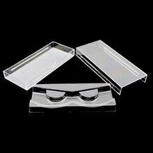 50 adet/grup Akrilik Kirpik Çekme tipi saklama kutusu Ambalaj Kutusu için Manyetik Kirpik kutusu Şeffaf Kapak Açık Tepsi Yüksek Kalite