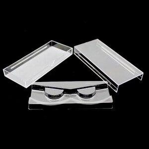 Image 1 - 50 pçs/lote Cílios Acrílico Puxar tipo De Armazenamento Caso Caixa De Embalagem para a caixa de Cílios Transparente Tampa Magnética Bandeja Claro de Alta Qualidade