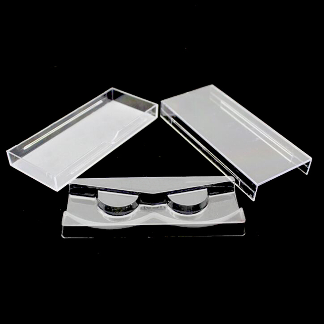 50 pçs/lote Cílios Acrílico Puxar tipo De Armazenamento Caso Caixa De Embalagem para a caixa de Cílios Transparente Tampa Magnética Bandeja Claro de Alta Qualidade
