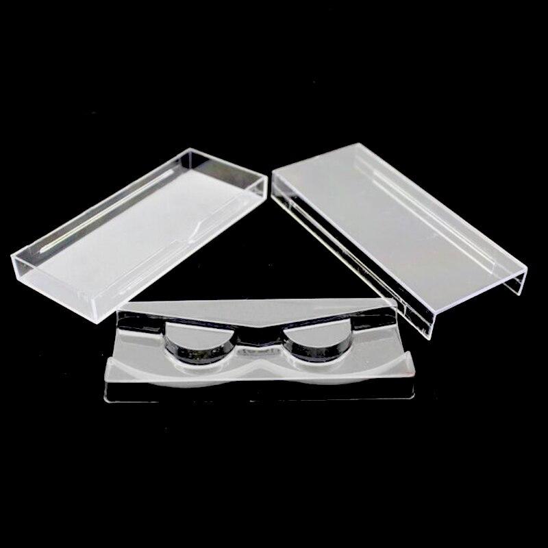 50 pcs/lot Acrylic Eyelash Pull type Storage Case Packing Box for Magnetic Eyelash box Transparent Lid Clear Tray High Quality(China)
