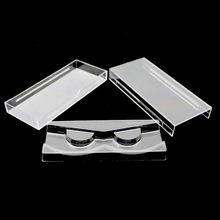 50 unids/lote acrílico de pestañas de tipo caja de almacenamiento de caja de embalaje para caja magnética de pestañas caja transparente tapa clara bandeja de alta calidad