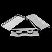 50 יח\חבילה אקריליק ריס למשוך סוג אחסון מקרה תיבת אריזה עבור מגנטי תיבת עפעף שקוף שקוף מכסה מגש באיכות גבוהה