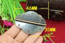 50Pcs 46 * 35MM Small oval box accessories antique hinge 6-hole lace olive hinge