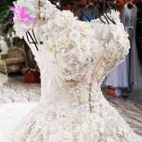 AIJINGYU 2018 luxury crystal sparkling diamond ivory new hot selling gown v neck formal bride dresses wedding dress WT248
