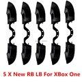 5 ШТ. Черный Новая Версия LB РБ Бампер Кнопка Для Microsoft Xbox один Контроллер с 3.5 мм Jack Порт для X Box Одной Элиты Управления