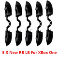 5 PCS Black New Version LB RB Bumpers Button For Microsoft Xbox One Controller with 3.5mm Jack Port for X Box One Elite Control