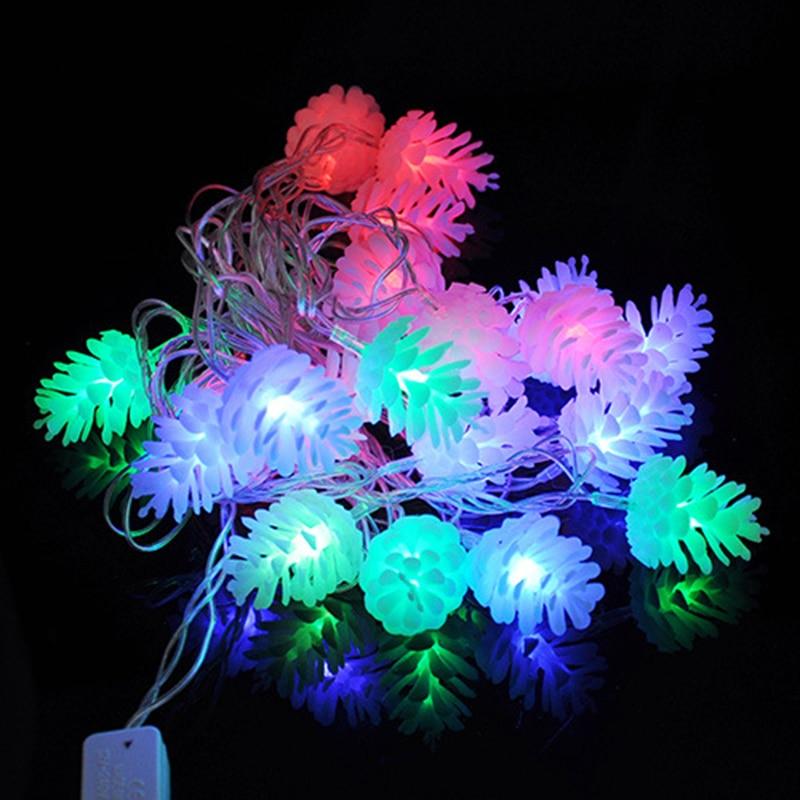 4 M 20 led modifiable Pomme De Pin LED Chaîne Lumière AC110V/220 V UE/US plug guirlande de noël Nouveau année partie De Décoration De Mariage Lumières