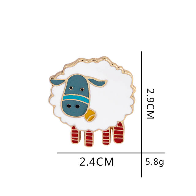 Cute Blue Face Sheep Pin Brooches Jewelry Kawaii Enamel Pin