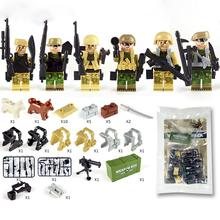 Childrens Building Blocks Weapon Accessories Combat Readiness Box Wire Netting Belt Military Toy