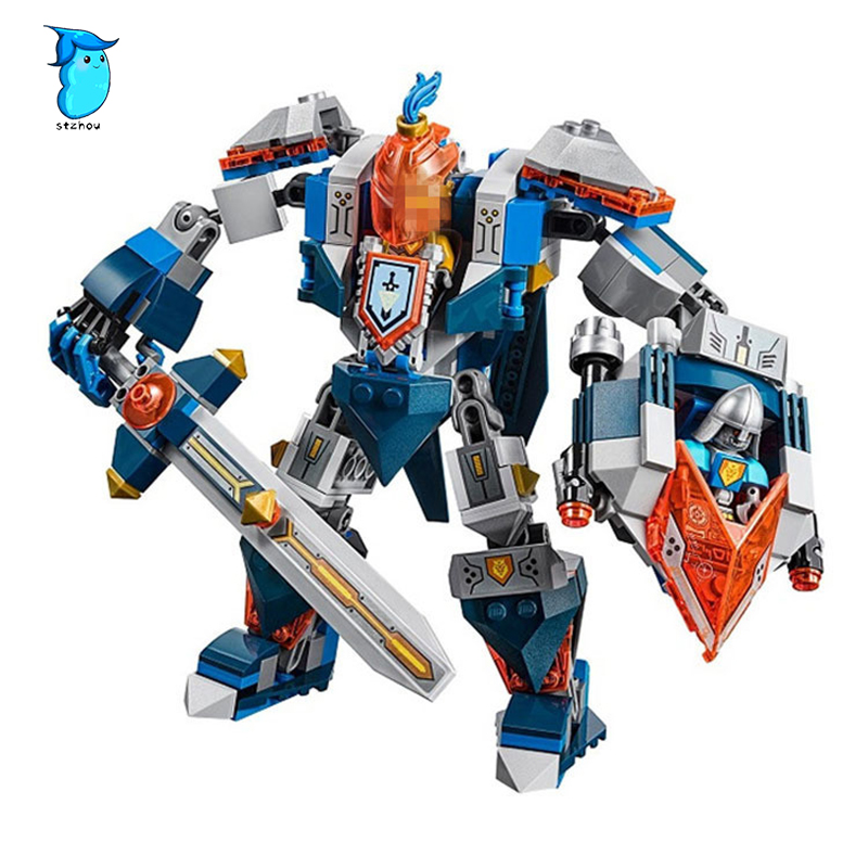 StZhou LEPIN Nexo Knights Axl The King's Mech Combination Marvel Building Blocks Kits Toys Compatible Legoe Nexus lepin nexo knights jestros volcano lair combination marvel building blocks kits toys compatible legoings nexus legoings