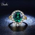 Exquisito Cristal de Piedra Verde de La Vendimia Elegante Joyería de Los Anillos de Boda para las mujeres Rhinestone Brillante cóctel Anel bijoux regalos R201