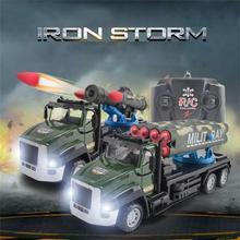 4WD RC Car Military Missile Car Rocket Remote Control Car Childrens Toy Car Model