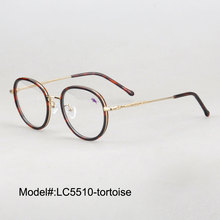 LC5510 full rim for unisex retro round optical frame myopia spectacles prescription eyewear eyeglasses