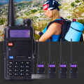 5piece/lot BaoFeng UV-5R Interphone VHF 136-174 UHF 400-520 MHz Dual-Band 5W two way radio uv 5r portable walkie talkie