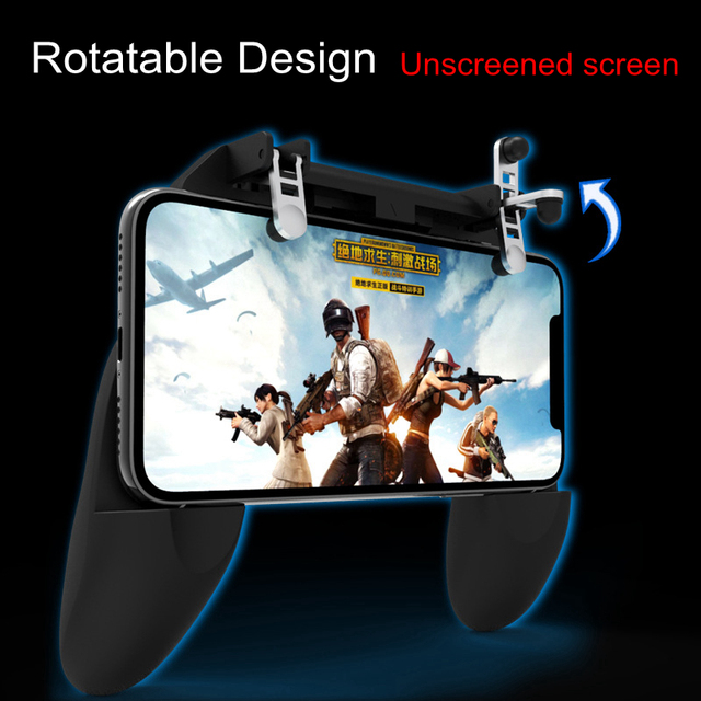 Free Fire PUBG Mobile Gamepad Controller Joystick PUGB Mobile Game Pad with L1 R1 Triggers L1R1 Button for iPhone Android Phone