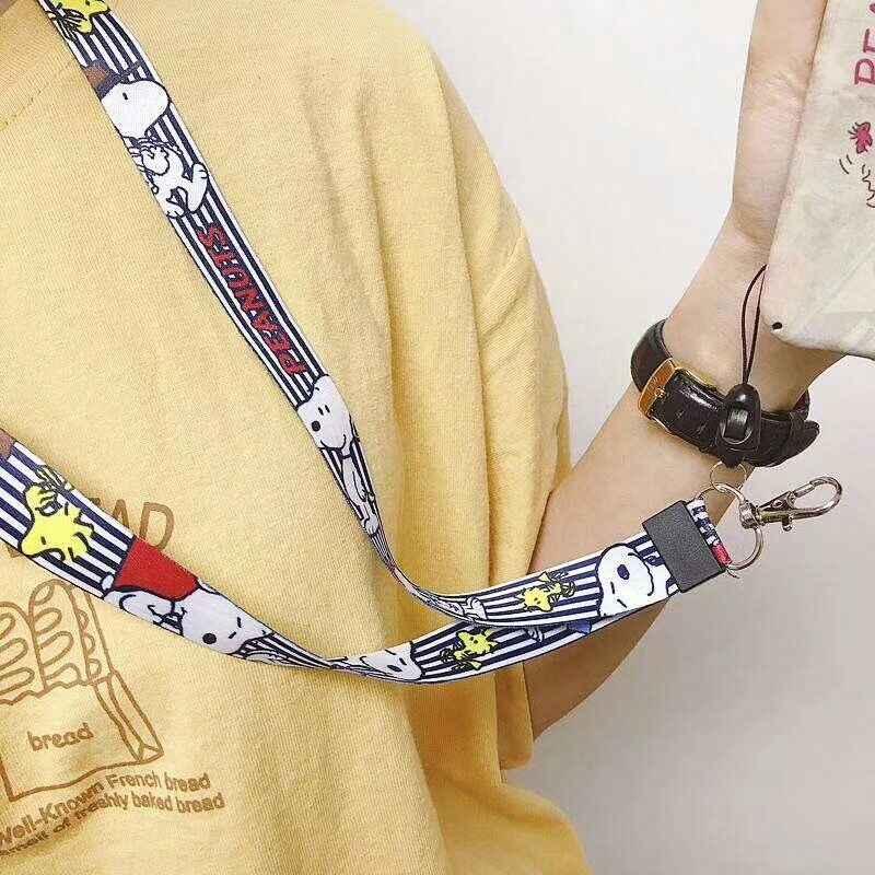 Ремешки для ключей с милым аниме мультяшным ремешком на шею для ключей ID Card Gym для мобильного телефона лямки USB держатель значка DIY веревка для подвешивания