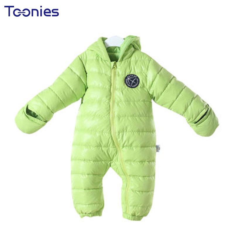 Baby Girls Clothes Winter Boys Down Coat Newborn Babies Jumpsuits Boy Girl Rompers Warm Hooded Romper Snowsuit Climb Clothing winter baby rompers organic cotton baby hooded snowsuit jumpsuit long sleeve thick warm baby girls boy romper newborn clothing