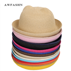 2020 New Cute Children's Sun Hat Spring Summer Boy Girl Kids Baby Straw Hat Summer Cap Panama Shades Ear Beach Hats Casquette(China)