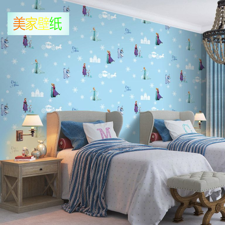 Children U0027s Room Luminous Snowflake Wallpaper Ice And Snow Odd Girl Girl  Bedroom Cartoon Wall Papers Non Woven Fairy Tale World In Wallpapers From  Home ...