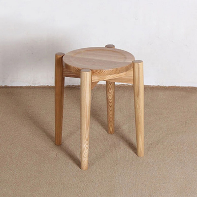 4 pieces for a lot Ash Wood Stools