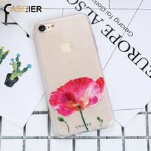 CASEIER Spring Phone Case For iPhone 6 6S 7 8 Plus Soft TPU X XS MAX XR  Emboss Silicone Capinha Fundas Capa