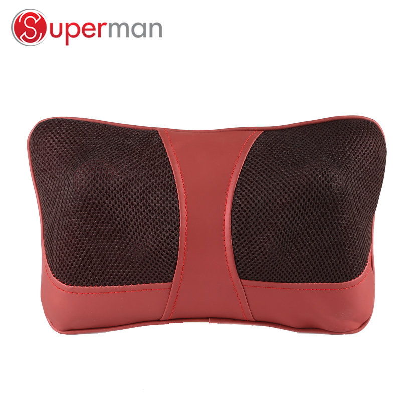 cervical massage pillow and neck shoulder electric  shiatsu massager car seat cushion with heat