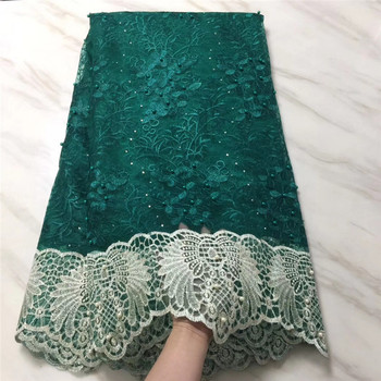 African Lace Fabric 2019 Women Fashion Beautiful Yellow High Quality net lace Embroidery French Tulle Lace For Wedding Green