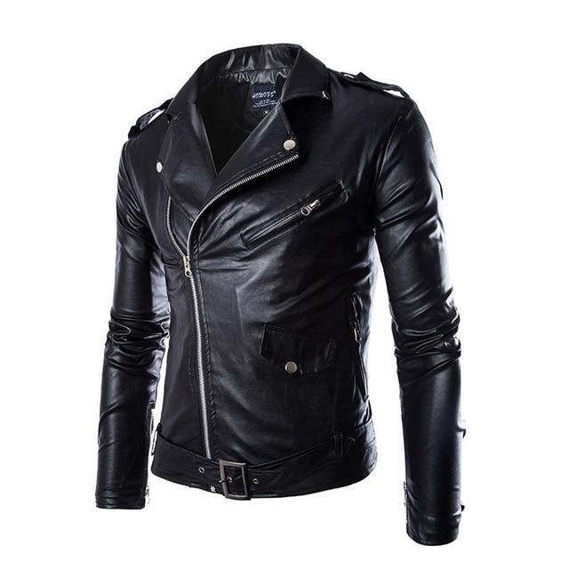 Leather Jacket Men  new Men Leather & Suede fashion jackets High quality Men's leather Jackets Coat Chaqueta cuero hombre